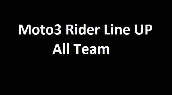 Daftar Pembalap Moto3 2020