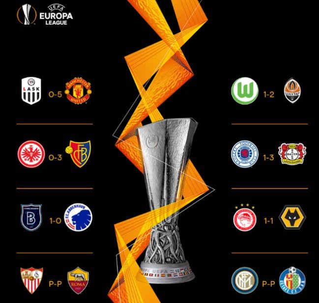 Hasil Leg 1 babak 16 besar Liga Europa