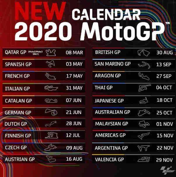 Jadwal Terbaru MotoGP 2020